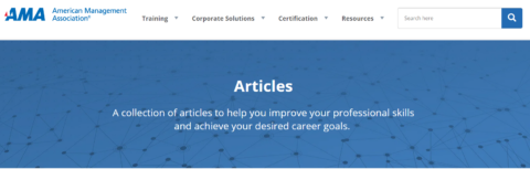 American Management Association – Articles