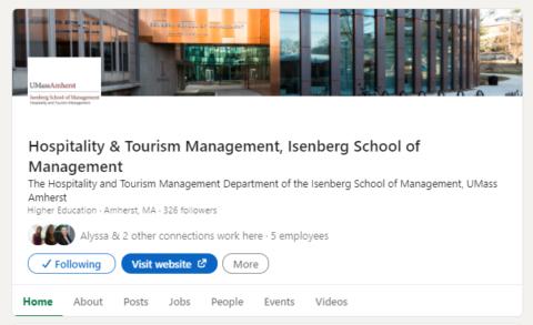 HTM Program LinkedIn Page