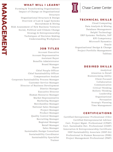 Career Insights for Management Majors