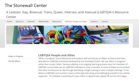The Stonewall Center – UMass Amherst