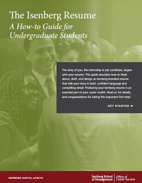 The Isenberg Resume: A How-To Guide for Undergraduate Students