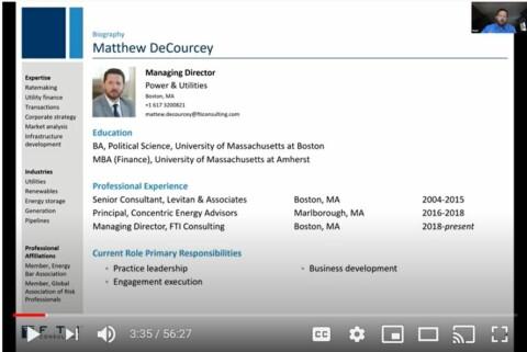 Alumni Talk: Matthew DeCourcey, FTI Consulting