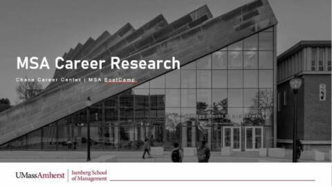 Career Research Strategies