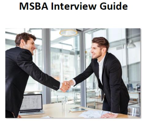 MSBA Interview Guide