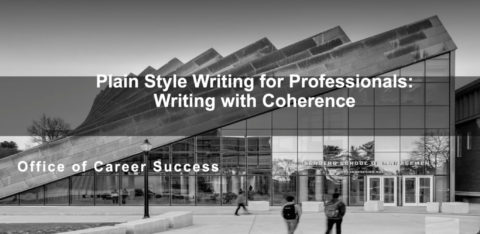 Plain Style Writing for Professionals: Writing w/ Coherence