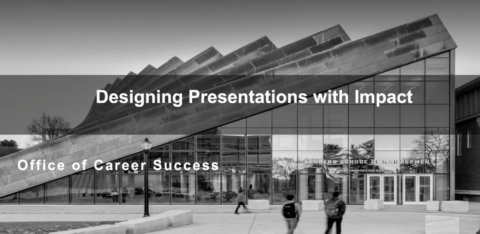 Designing Presentations with Impact