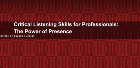 Critical Listening Skills for Professionals