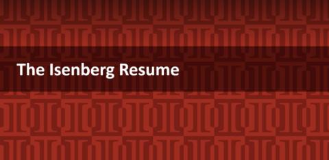 The Isenberg Resume