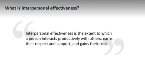 Interpersonal Effectiveness