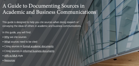 Documenting Sources in Academic and Business Communications