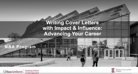Writing Cover Letters: Advancing Your Career (MBA)