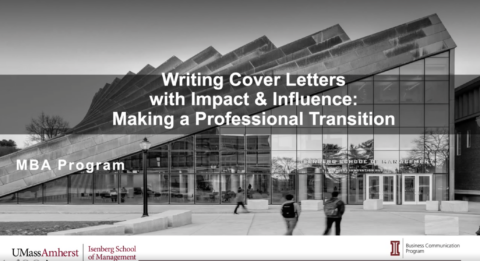 Writing Cover Letters: Making a Professional Transition (MBA)