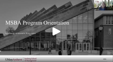 MSBA Fall Virtual Orientation (VIDEO)