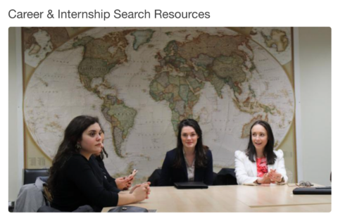School of Public Policy (SPP): Career & Internship Search Resources