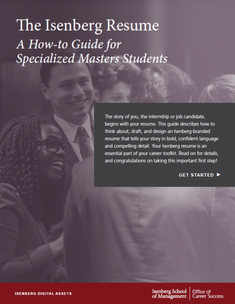 The Isenberg Resume: A How-To Guide for Specialized Masters Students