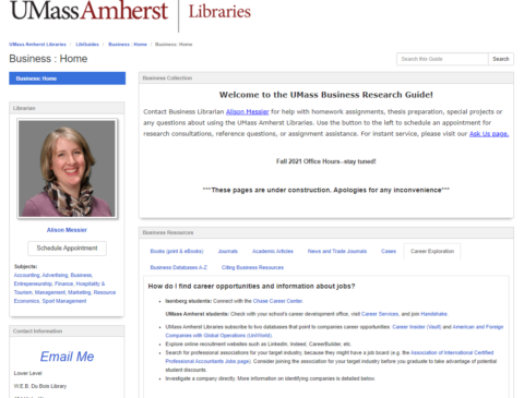 UMass Amherst Libraries Business Research Guide