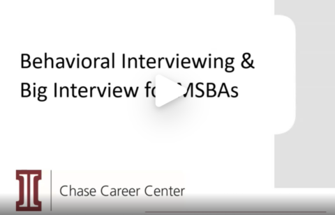 Behavioral Interviewing & Big Interview for MSBAs (VIDEO)
